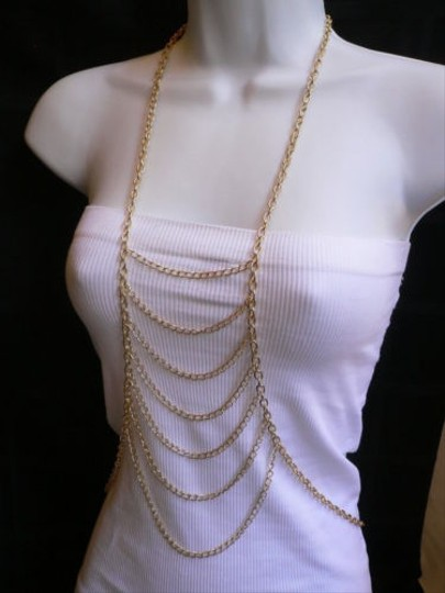 Other Women Gold Drops Metal Body Chain Jewelry Long Trendy Necklace