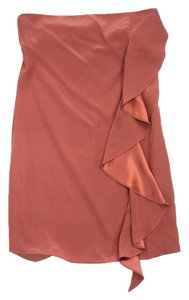 Elizabeth and James short dress Rust Silk Side Ruffle on Tradesy
