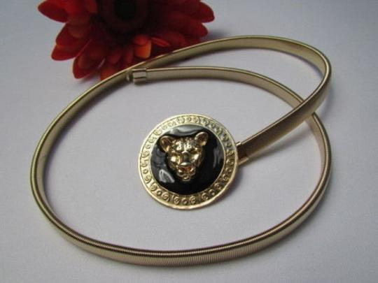 Other Women Hip Waist Gold Black Elastic Metal Tiger Thin Fashion Belt