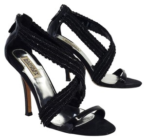 Badgley Mischka Black Beaded Strappy Sandal Sandals