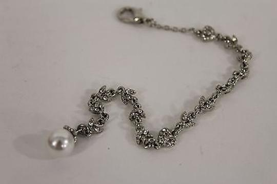 Other Women Silver Long Jewelry Open Back Pendant Heart Necklace