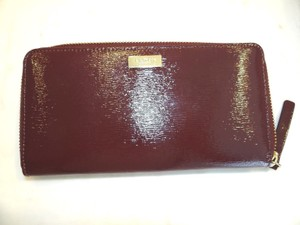 Kate Spade Kate Spade Bixby Place Neda Mulled Wine Patent Leather Zip Around Wallet Msp 145