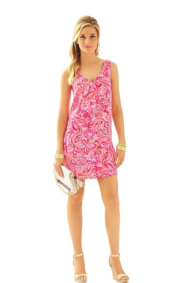 Lilly Pulitzer Pink Pout Mango Salsa Calissa Sleeveless Double V ...