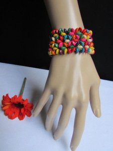 Other Women Wide Fashion Rainbow Bracelet Multi Colors Hawaiian
