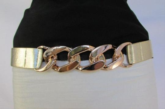 Other Women Black Silver Gold Elastic Fashion Belt Chunky Metal Chains 27-34