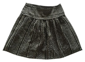 Madewell Mini Skirt black and white
