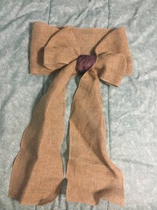 88 Burlap Chair Bows