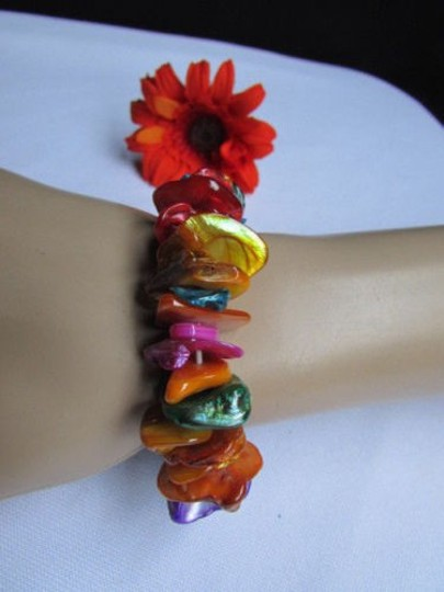 Other Women 0.65 Wide Multi Colors Stone Beads Trendy