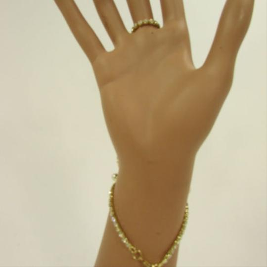 Other N. Women Gold Metal Leaf Hand Chain Fashion Bracelet Bead Slave
