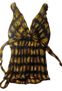BCBGMAXAZRIA Bcbg Maxazria Silk Top black, yellow