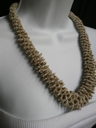 Other Women Off White Cream Beads Thick Strand Indonesian Fashion Necklace 12