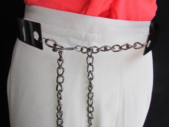 Other Women Hip High Waist Pewter Metal Plate Fashion Belt Fits Sizes