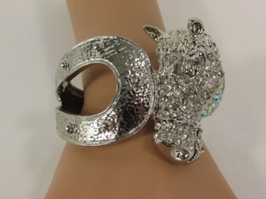 Other Women Silver Metal Cuff Jewelry Rodeo Horse Shoe Rhinestones