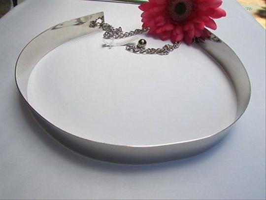 Other Women Hip High Waist Thick Silver Metal Plate Trendy Fashion Belt 26-36 Xs S M