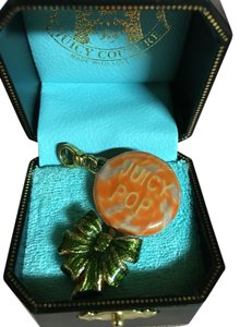Juicy Couture NEW! JUICY COUTURE RARE 2004 ORANGE SWIRLSUCKER LOLIPOP CHARM!