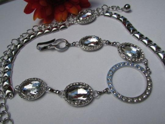 Other Women Hip Waist Silver Metal Ring Chains Fashion Belt Big Beads 30-45