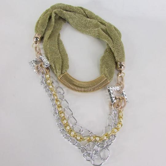 Other Women Gold Silver Metal Chain Fashion Necklace Infinity Mesh