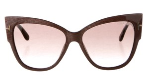 Tom Ford Pink Tom Ford Anoushka Textured Oversize Cat-Eye Sunglasses