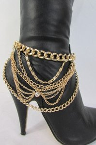 Other Chain Faux Gold Boots