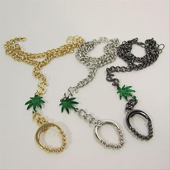 Other Women Marijuana Money Bracelet Hand Chain Slave Ring Black Silver Gold