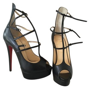 Christian Louboutin Strappy Black Pumps
