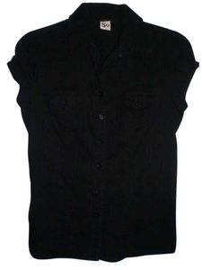 Social Occasions by Mon Cheri Button Down Shirt black