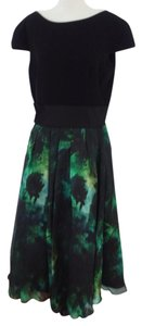 Theia Green Floral Dress
