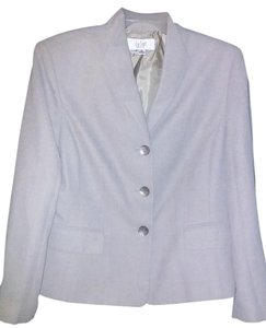 Le Suit Polyester Buttoned Pads Beige Blazer