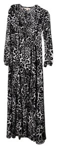 Black Maxi Dress by Michael Kors Leopard Mk Sheer
