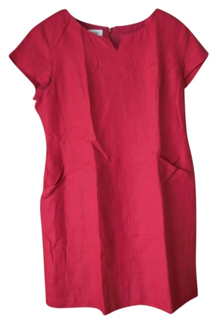 Preload https://img-static.tradesy.com/item/19278247/talbots-red-16petite-linen-mid-length-workoffice-dress-size-petite-14-l-0-1-650-650.jpg