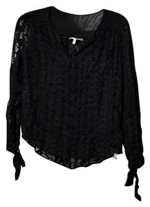 Rebecca Minkoff Lace/sheer Top Black