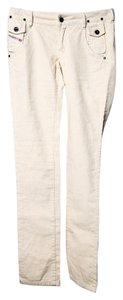 Diesel Cream Pant Petite Xs Skinny Jeans-Light Wash