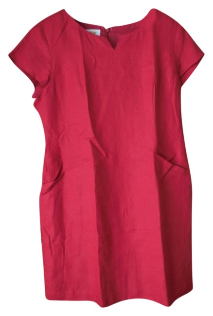 Preload https://img-static.tradesy.com/item/19278607/talbots-red-16petite-linen-mid-length-workoffice-dress-size-16-xl-plus-0x-0-1-650-650.jpg