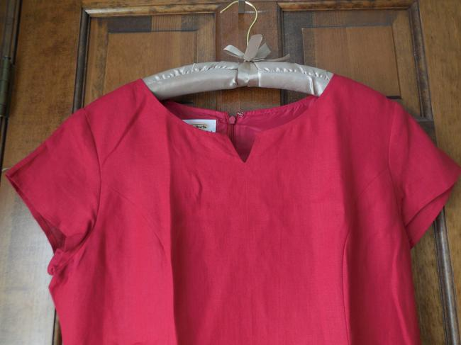 Talbots Linen Petite Lined Cap Sleeve To Evening Dress