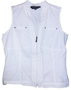 Jones New York Cotton Zipper Vest