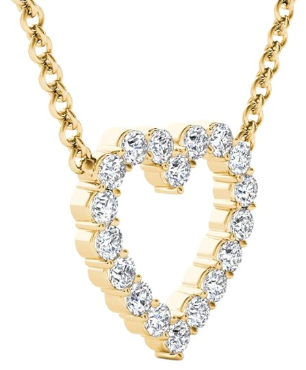 Elizabeth Jewelry 14Kt Yellow Gold 0.50 Ct Diamond Heart Pendant