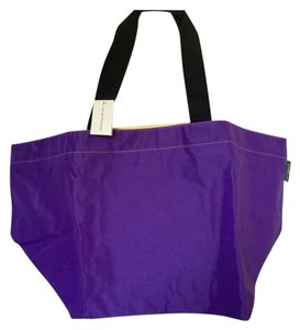 Herve Chapelier Two-tone Tote in purple/yellow