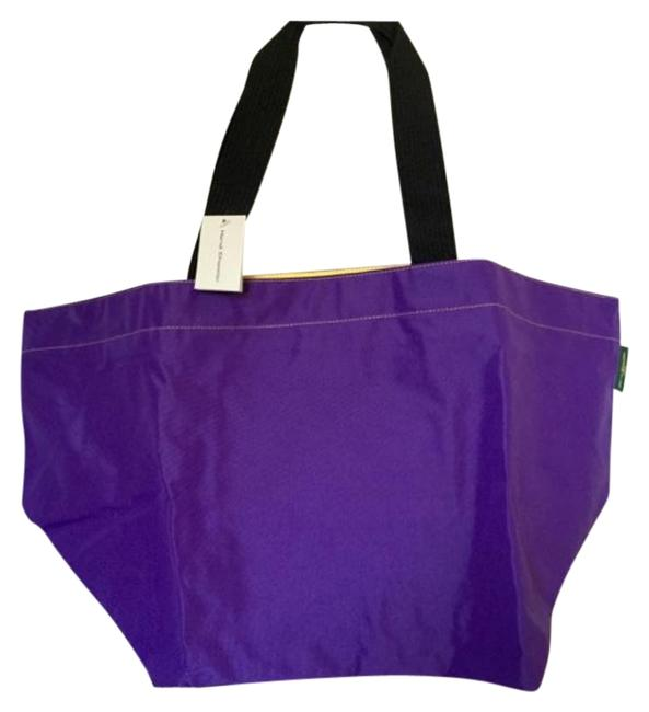 Item - XL Xl. 913n. Purple/Yellow Nylon Tote