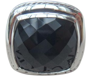 David Yurman HUGE DAVID YURMAN 20MM BLACK ONYX STERLING SILVER RING SIZE 81/2