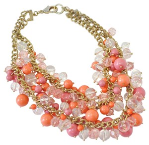 Other Chucky Beaded Statement Necklace | Coral and Pink Necklace