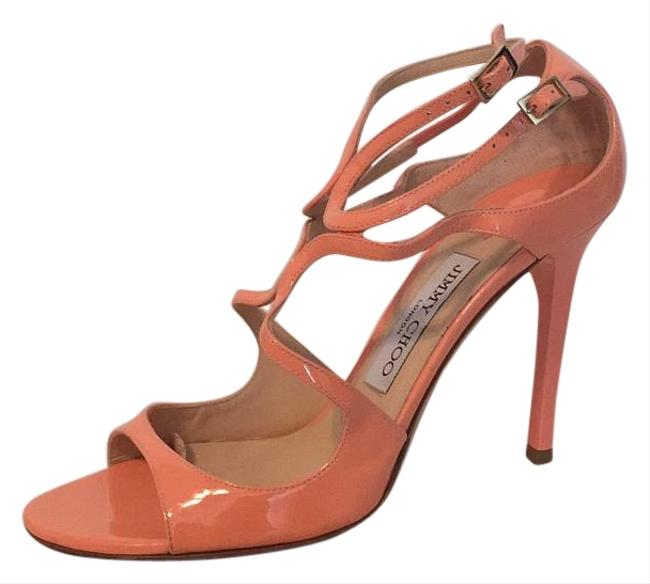 Item - Coral Lang Strappy Patent Leather Sandals Formal Shoes Size US 8.5 Regular (M, B)