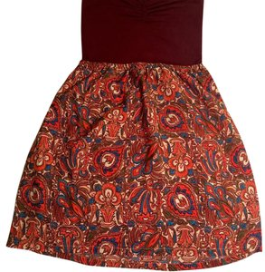 Roxy short dress Rust / floral on Tradesy