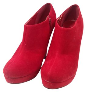 JustFab Suede red Boots