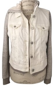 American Eagle Outfitters White and grey Womens Jean Jacket