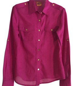 Tory Burch Button Down Shirt Pink