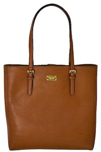 Michael Kors Leather Gold Hardware Tote in Tan
