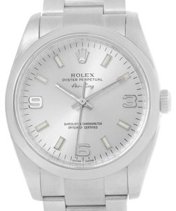 Rolex Rolex Oyster Perpetual Air King Silver Dial Mens Watch 114200