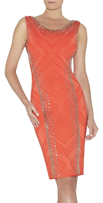 Preload https://img-static.tradesy.com/item/19280788/herve-leger-coral-red-orange-adriane-engineered-textured-beading-knee-length-night-out-dress-size-12-0-1-650-650.jpg