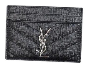 Saint Laurent Yves Saint Laurent Black Card Holder