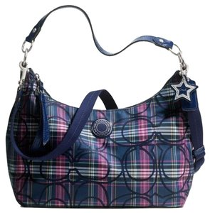Coach Signature Tartan Star Hobo Bag